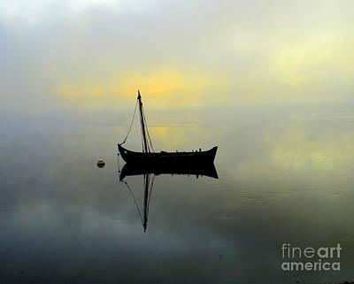 Morning Fog Art Print by Julie Hodgkins