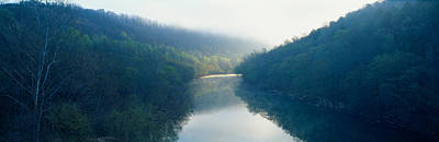Morning Fog On Cumberland River Art Print by Panoramic Images