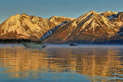 Photograph - Morning Fog On Jackson Lake by Dan Sproul