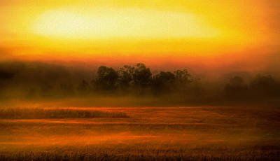Painting - Morning Fog Rising Over The Country by Dan Sproul