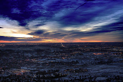 Sun Rise Colorado Photograph - Morning From Mount Lookout by Brian Gustafson