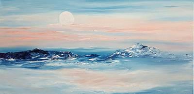 Morning Full Moon Art Print