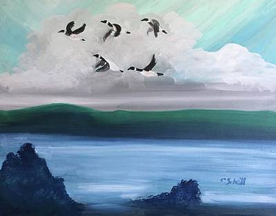 Painting - Morning Geese by Christina Schott
