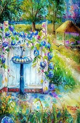 Painting - Morning Glories by Bernadette Krupa