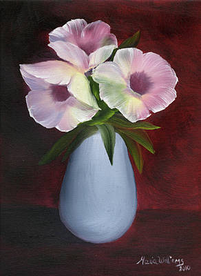 Painting - Morning Glories by Maria Williams