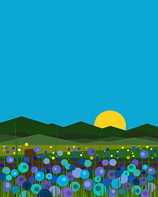 Digital Art - Morning Glories by Val Arie