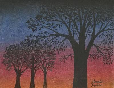Charcoal Mixed Media - Morning Glory by Alexander Davidson