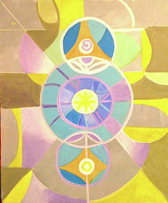 Painting - Morning Glory Geometrica by Suzanne Giuriati-Cerny