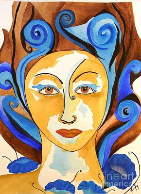 Painting - Morning Glory Goddess by Jean Fry