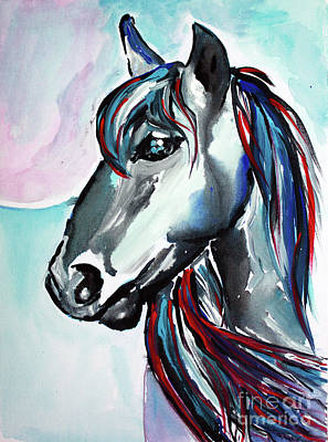 Mammals Painting - Morning Glory - Horse Art By Valentina Miletic by Valentina Miletic