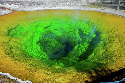 Photograph - Morning Glory Pool, Yellowstone by Marilyn Burton
