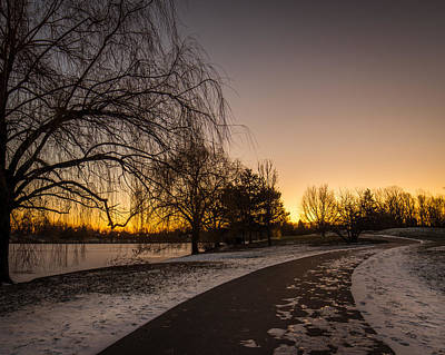 Photograph - Morning Glow Along Hoyt Lake by Chris Bordeleau