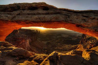 Morning Glow At Mesa Arch Art Print