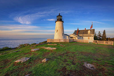 Photograph - Morning Glow At Pemaquid Point by Rick Berk