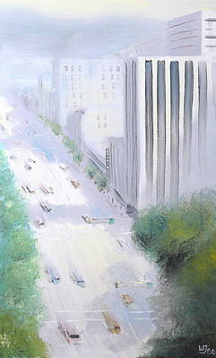 Painting - Morning Glow On Broadway 1986 by Wingsdomain Art and Photography