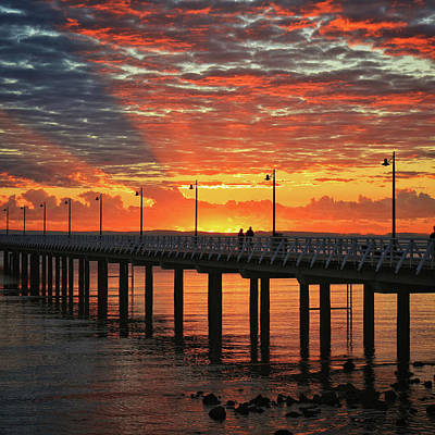 Photograph - Morning Glow Over The Pier by Keiran Lusk