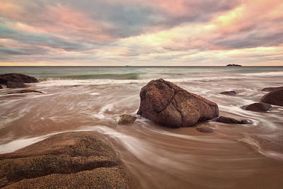 Photograph - Morning Glow Singing Beach Ma by Michael Hubley