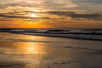 Photograph - Morning Gold - Sullivan's Island Sc by Donnie Whitaker