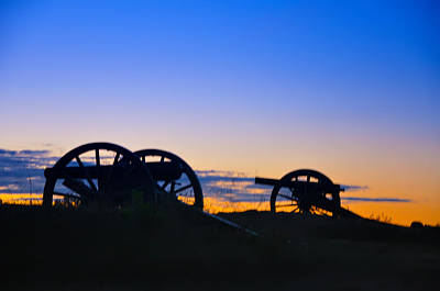 Colorful Sky Digital Art - Morning Guns At Gettysburg by Bill Cannon