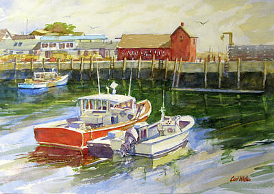 Painting - Morning Harbor, Rockport by Carl Whitten