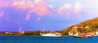 Digital Art - Morning Harbor by Tom Tunnicliff