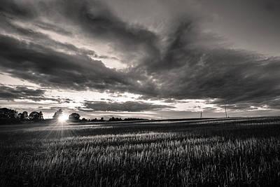 Photograph - Morning Has Broken Bw by Michael Damiani