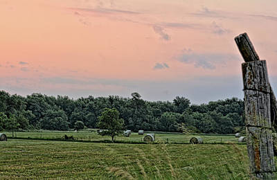 Photograph - Morning Hay Field by Bonfire Photography