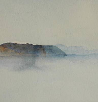 Painting - Morning Haze In The Swedish Archipelago On The Westcoast.2 Up To 28 X 28 by Marica Ohlsson