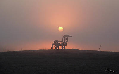 Time Magazine Photograph - Morning Haze Iron Horse Art  by Reid Callaway