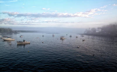 Photograph - Morning Haze Over Booth Bay by John Hoey