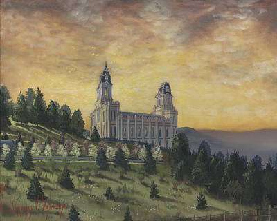 Painting - Morning He Came Again Into The Temple by Jeff Brimley