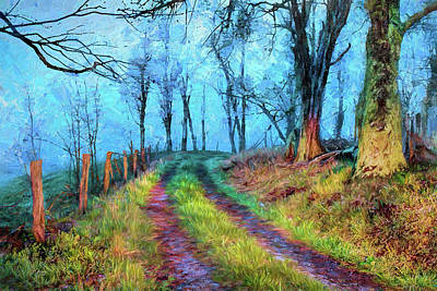Painting - Morning Hike In The Blue Ridge Mountains Ap by Dan Carmichael