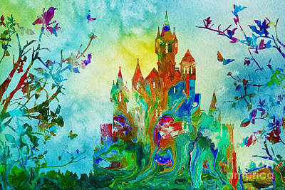 Mixed Media - Morning In A Fairy Tale Land by Olga Hamilton