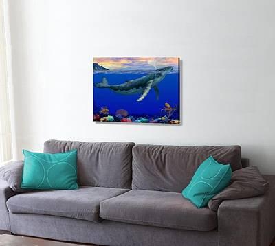 Hawaiian Fish Digital Art - Morning In An Octopus Garden On The Wall by Stephen Jorgensen