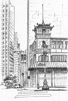 Drawing - Morning In Chinatown by Masha Batkova