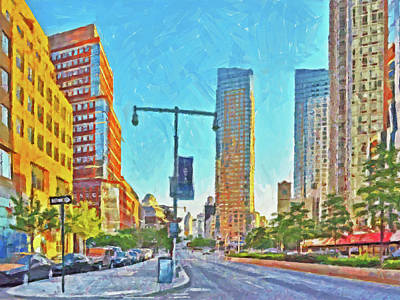 Digital Art - Morning In Dowtown Brooklyn by Digital Photographic Arts