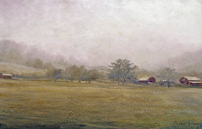 Art Print featuring the painting Morning In Georgia by Andrew King