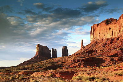 Photograph - Morning In Monument Valley by Roupen  Baker