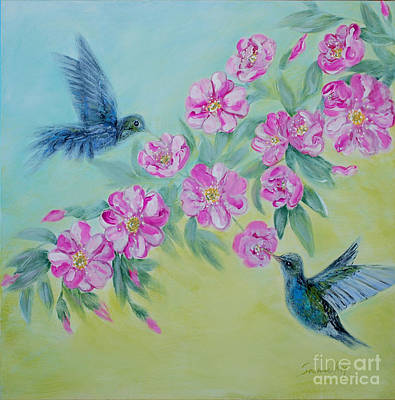 Painting - Morning In My Garden. Special Collection For Your Home by Oksana Semenchenko