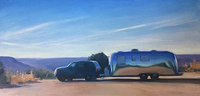 Airstream Trailer Painting - Morning In Palo Duro by Elizabeth Jose