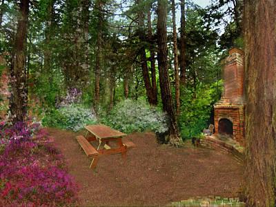 Digital Art - Morning In Serenity Garden by Joan Scarbrough