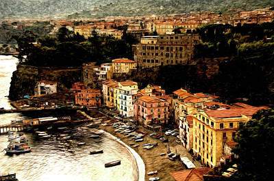 Morning In Sorrento Italy Print by Xavier Cardell