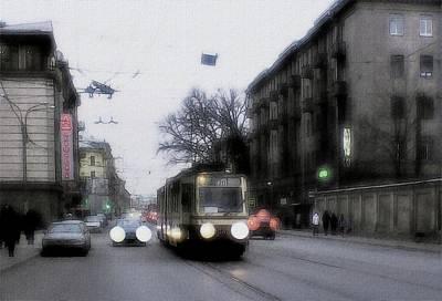 Morning In St. Petersburg. Art Print by Alexey Bazhan