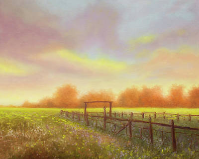 Morning In Texas - No 5 Art Print by Rob Blauser