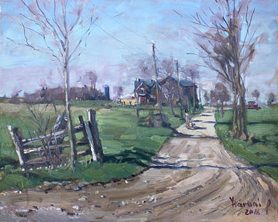 Georgetown Wall Art - Painting - Morning In The Farm Georgetown by Ylli Haruni