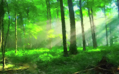 Painting - Morning In The Forest by Gary Grayson