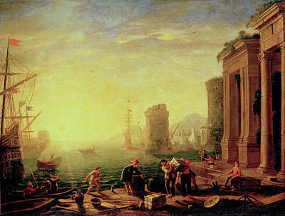 Wreckage Painting - Morning In The Harbour by Claude Lorrain