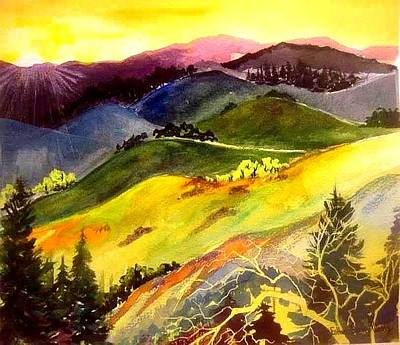 Painting - Morning In The Hills by Esther Woods