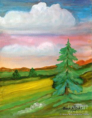 Morning In The Mountains Art Print by Anna Folkartanna Maciejewska-Dyba