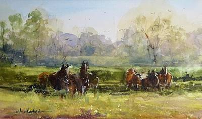 Painting - Morning In The Pasture by Sandra Strohschein